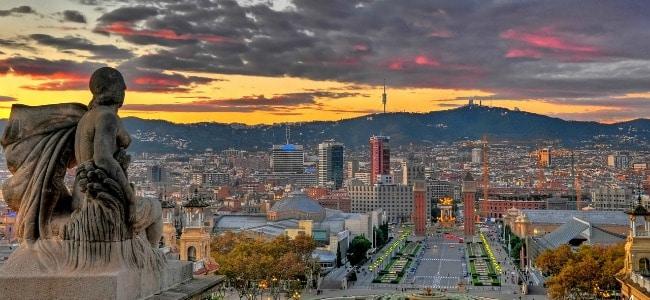 Ammirare Barcellona dall'alto